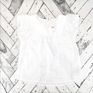 Gap Short Sleeve Textured Pattern Smock Top